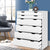 Artiss 6 Chest of Drawers Tallboy Cabinet Storage Dresser Table Bedroom Storage - Decorly
