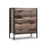 Artiss Chest of Drawers Tallboy Dresser Storage Cabinet Industrial Rustic - Decorly