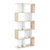 Artiss 5 Tier Display Book Storage Shelf Unit - White Brown - Decorly