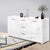 Artiss High Gloss Sideboard Storage Cabinet Cupboard - White - Decorly