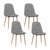 Artiss Set of 4 Adamas Fabric Dining Chairs - Light Grey - Decorly