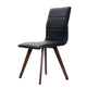 Artiss Set of 2 Dining Chairs Retro Chair New metal Legs High Back PU Leather Black