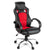 Racing Style PU Leather Office Desk Chair - Red - Decorly