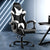 Artiss Gaming Office Chairs Computer Seating Racing Recliner Racer Black White - Decorly