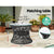 Gardeon Papasan Chair and Side Table Set- Black - Decorly