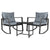 Gardeon Outdoor Chair Rocking Set - Black - Decorly