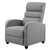Artiss Luxury Recliner Chair Chairs Lounge Armchair Sofa Fabric Cover Grey - Decorly