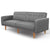 Artiss Sofa Bed Lounge 3 Seater Futon Couch Recline Chair Wooden 195cm Fabric