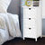 Artiss Bedside Table - White - Decorly