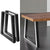2x Coffee Dining Table Legs Steel Industrial Vintage Bench Metal Trapezoid 710MM - Decorly