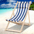 Artiss Fodable Beach Sling Chair - Blue & White - Decorly