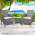 3 Piece Wicker Outdoor Chair Side Table Furniture Set - Grey - Decorly