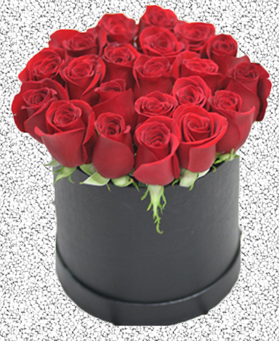 FRESH ROSES ARRANGEMENTS LUXORY BOX