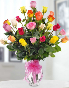 BEAUTYFUL FRESH ROSES ARRENGEMENT 24 STEMS