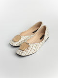 Nancy Lattice Mules Flats
