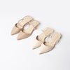 Nudy Double Strap Flats
