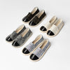 Halsey Chrome Slip On Flats