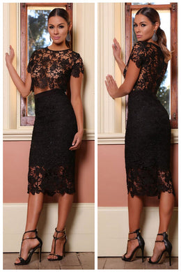 LACE TWO PIECE by Abyss by Abby