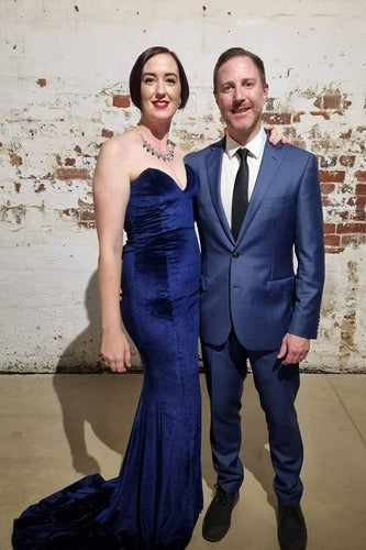 Kylies Kloset - Client wearing CYNTHIA GOWN by Portia & Scarlett - Designer Dress hire Perth.  Designer Dress Hire Perth Kylie's Kloset.  School Formal Gown Rental, Black Tie events.  Find your perfect outfit from Kylie's stunning collection incl. luxury clutches head pieces