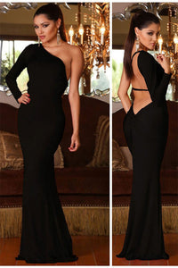 ONE SHOULDER GOWN by Abyss by Abby