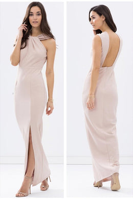 TWISTED HALTER GOWN by Fresh Soul
