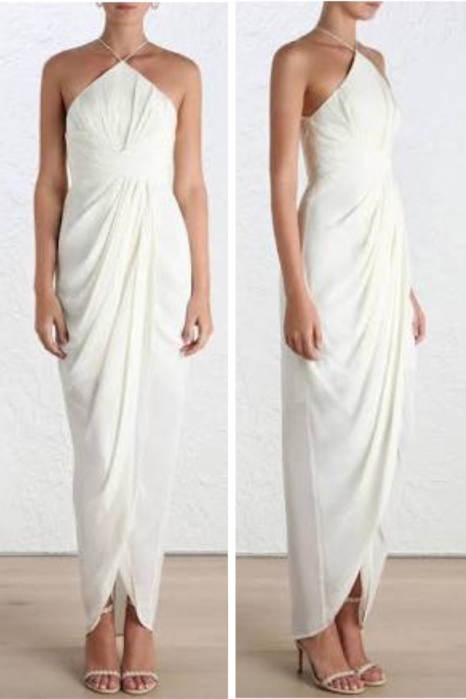 SILK TUCK LONG DRESS by Zimmerman