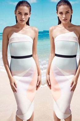 SORBET BLOCK DRESS by By Johnny