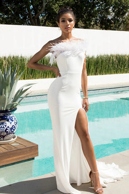 ICE GOWN by Abyss by Abby | KYLIES KLOSET | Designer Dress hire Perth, White dress