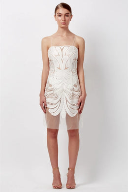 MIMI MINI DRESS - WHITE by Natalie Rolt