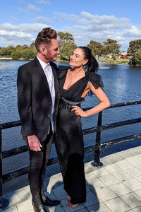 Designer Jumpsuit Hire | Designer Dress Hire Perth | Kylies Kloset Perth.  Hire dresses for School Balls, Race Day or a Wedding Luxury Clutches and Headpieces also available to rent.  Ball Gown Hire Perth. Cocktail Dress rental.