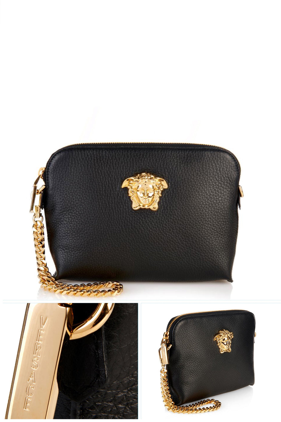 LEATHER CLUTCH by Versace