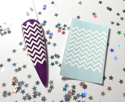 Chevron Nail Decal Topper