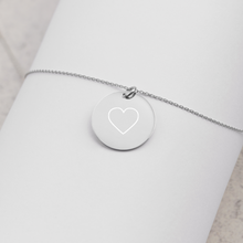 Load image into Gallery viewer, Heart Sterling Silver Necklace