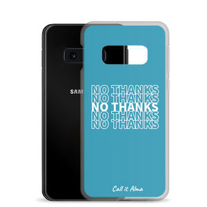 No Thanks Blue Samsung Case