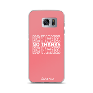 No Thanks Pink Samsung Case