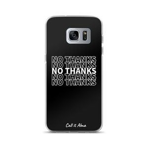 No Thanks Black Samsung Case