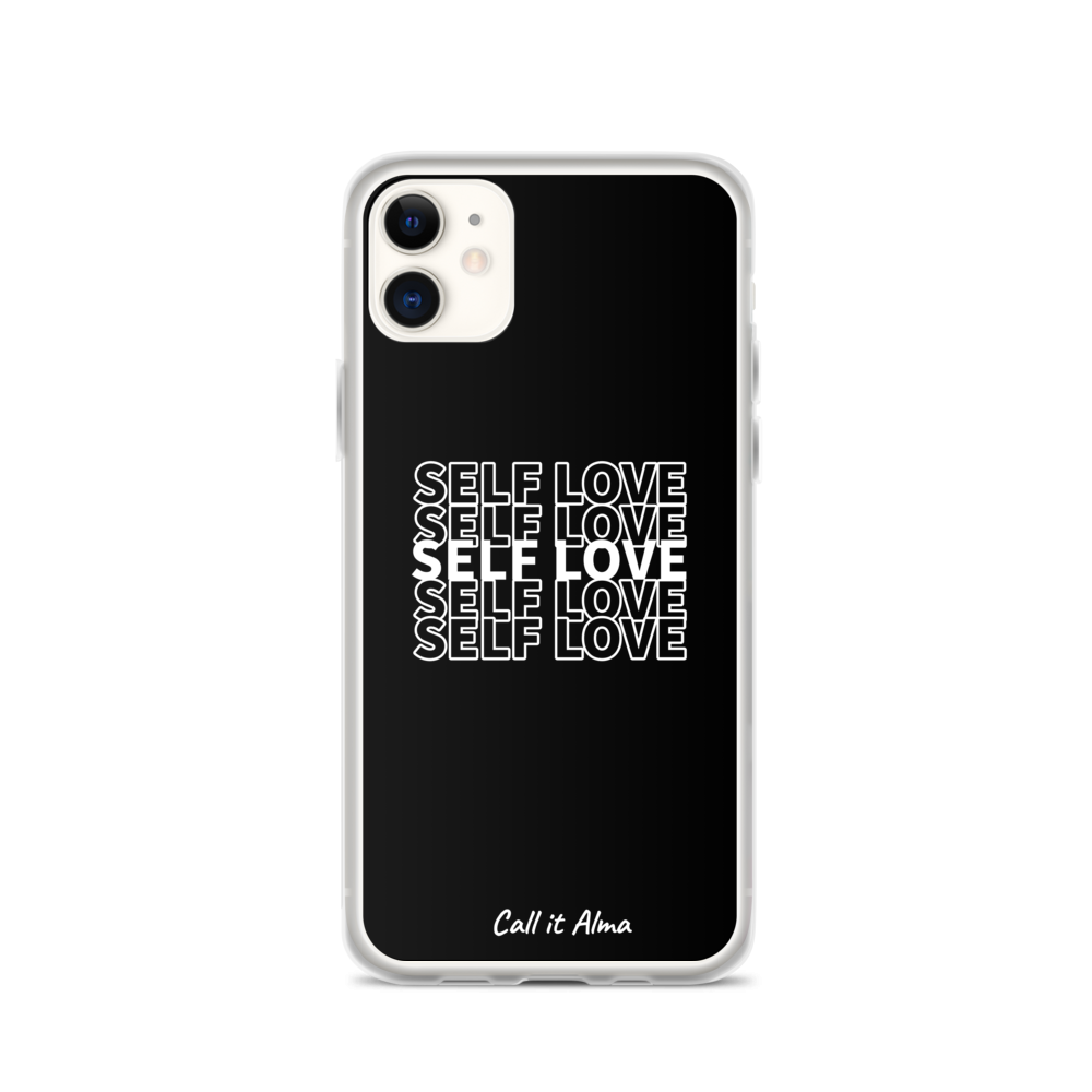 Self Love Black iPhone Case