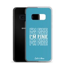Load image into Gallery viewer, I'm Fine Blue Samsung Case