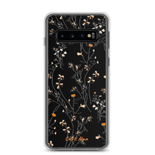 Load image into Gallery viewer, Black Flower Samsung Case