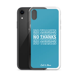 No Thanks Blue iPhone Case