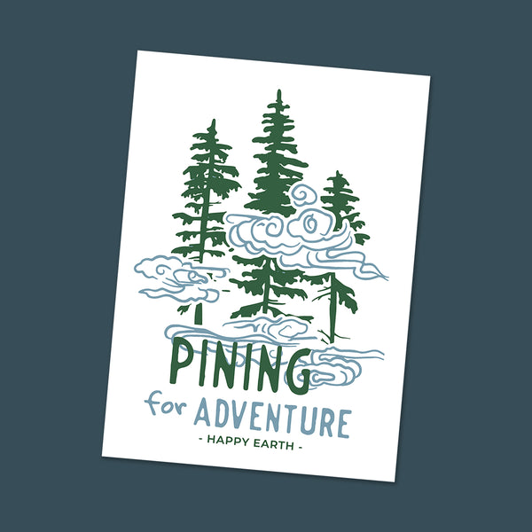 Pining for Adventure Sticker