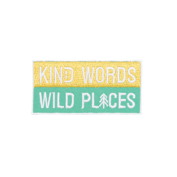Kind Words Wild Places Patch | Happy Earth Apparel