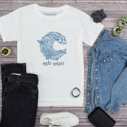 Make Waves Oversized Tee | Happy Earth Apparel