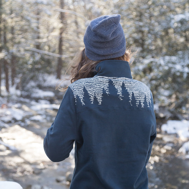 Stormy Forest Quarter-zip Sweatshirt