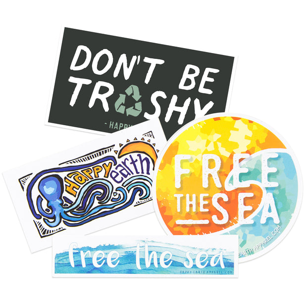 Free the Sea Stickers & Pack