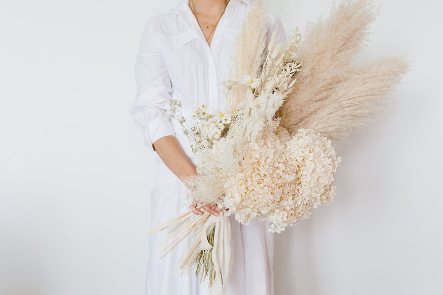 Dried Bridesmaids Flower Bouquet