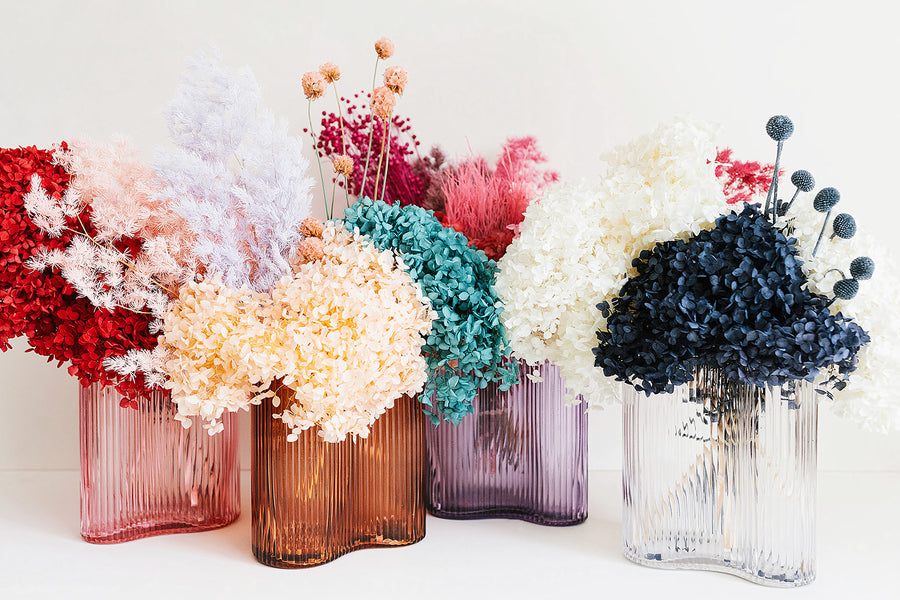 reed vase - lilac