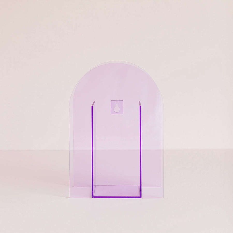 acrylic wall mount vase - grape