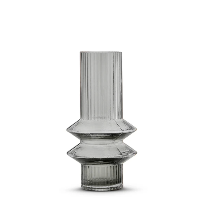 Memphis Vase - Smokey Grey (Small)