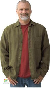 Mens Hemp Clothing | Sashmill Hemp Linen Shirt | Jacket - Olive / Small - Mens Hemp Clothing